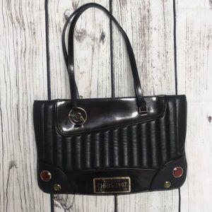 Handbags - Christian Dior black leather car tote